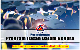 JPA Scholarships | Program Ijazah Dalam Negara (PIDN)